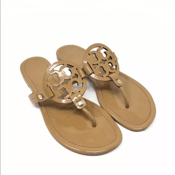 77c06bd4a38d Tory Burch Miller Patent Leather Sandals. M 5bbc9615035cf105bb23c7d7